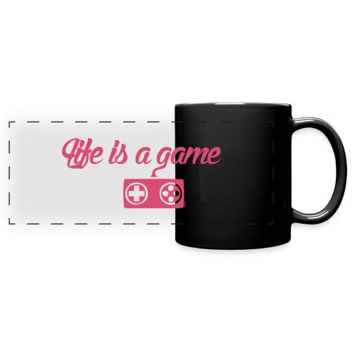 Life is a game (H) - Mug panoramique uni