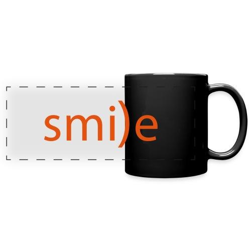 smile Emoticon lächeln lachen Optimist positiv yes - Full Color Panoramic Mug