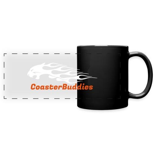 Coaster-Buddies Logo weiß - Panoramatasse farbig