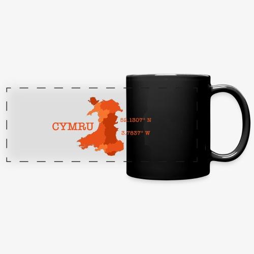 Cymru - Latitude / Longitude - Full Colour Panoramic Mug