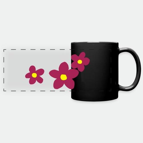 Three Flowers - Full Color Panoramic Mug