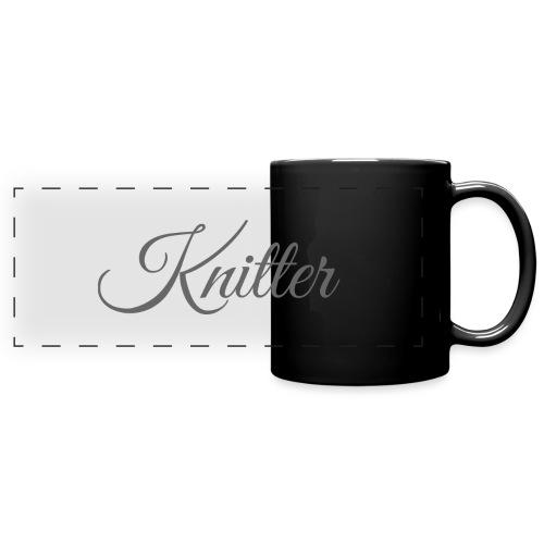 Knitter, dark gray - Full Colour Panoramic Mug