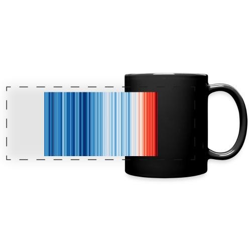 Klimawandel - Warming Stripes - Wärmestreifen - Panoramatasse farbig