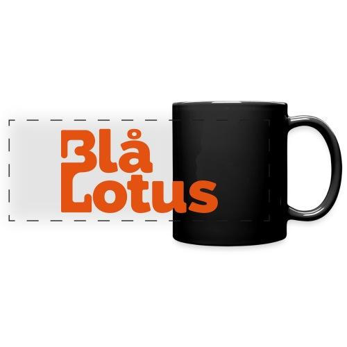 Blå Lotus_logo - Färgad panoramamugg