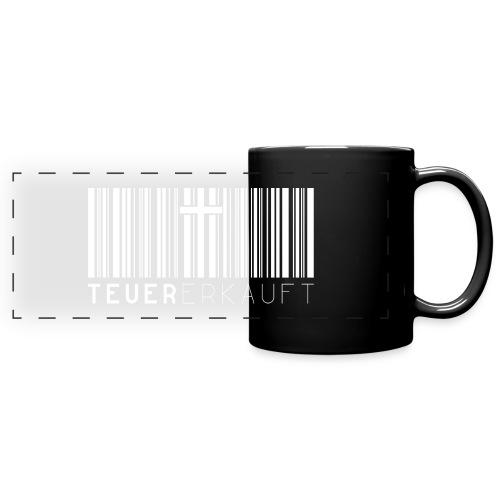 Teuer Erkauft Barcode Jesus Kreuz - Christlich - Panoramatasse farbig
