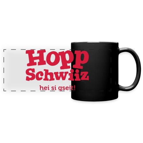 Hopp-Schwiiz hei si gseit - Panoramatasse farbig