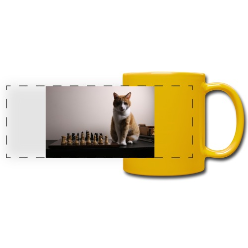 Charlie and his chess board - Full Color Panoramic Mug