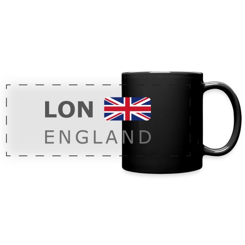 LON ENGLAND BF dark-lettered 400 dpi - Full Colour Panoramic Mug