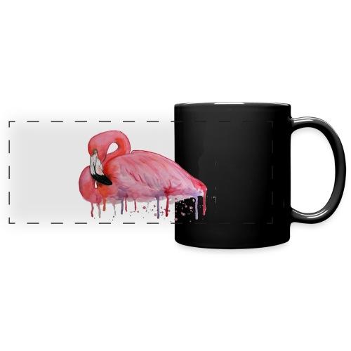 Pink Flamingo Watercolors Nadia Luongo - Tazza colorata con vista