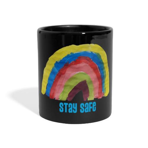 Stay Safe Rainbow Tshirt - Full Colour Panoramic Mug