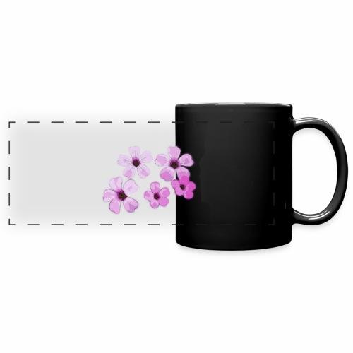 Blumen violett - Panoramatasse farbig
