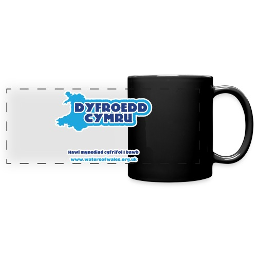 Logo_welsh_tshirt_outline - Full Color Panoramic Mug
