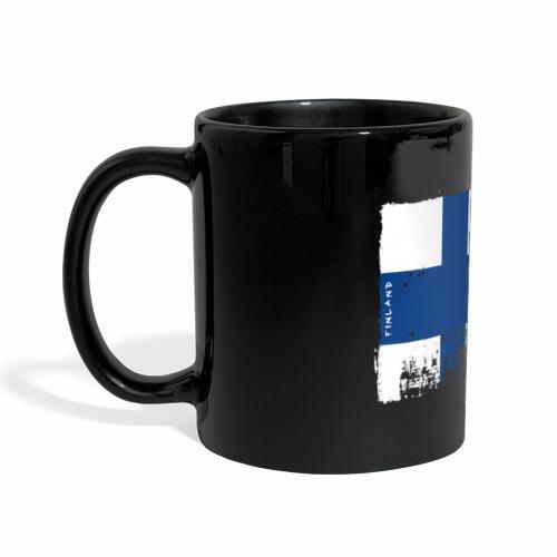 Suomen lippu, Finnish flag T-shirts 151 Products - Panoraamamuki värillinen