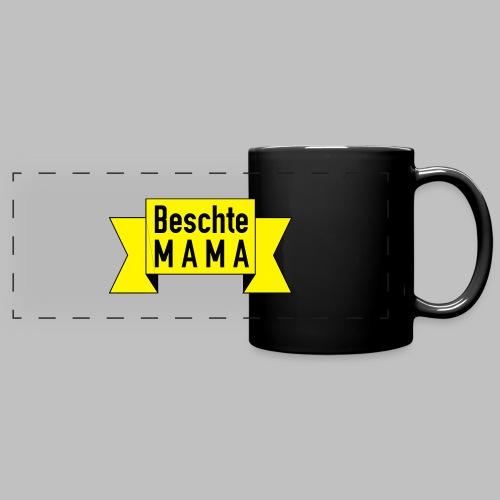 Beschte Mama - Auf Spruchband - Panoramatasse farbig