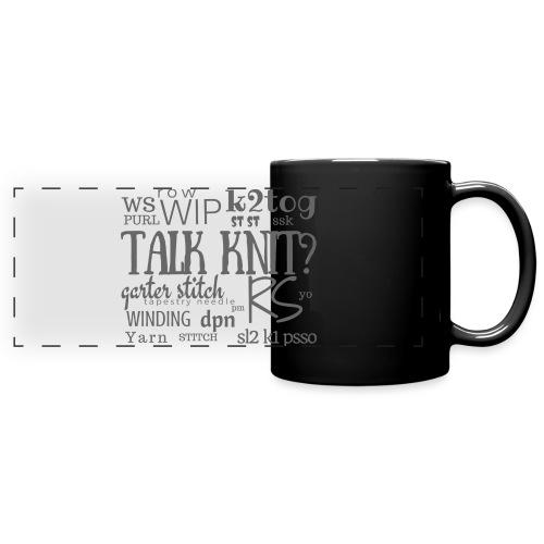Talk Knit ?, gray - Full Color Panoramic Mug