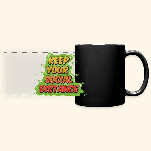 Keep your social distance - Mug panoramique uni