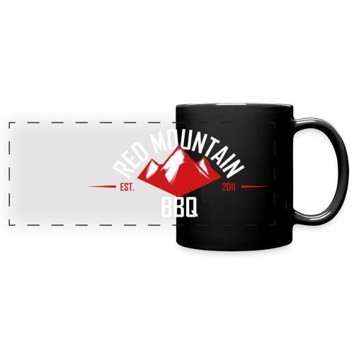 Redmountain-BBQ Logo weiß - Panoramatasse farbig