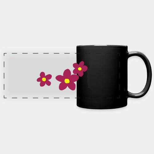 Three Flowers - Full Colour Panoramic Mug