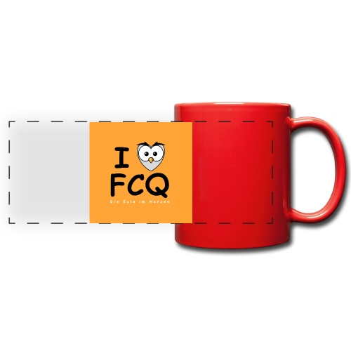 I Love FCQ button orange - Panoramatasse farbig