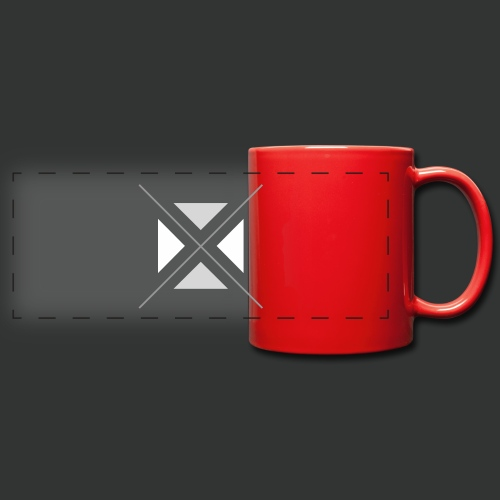 hipster triangles - Full Color Panoramic Mug
