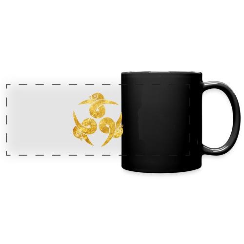 Three Geese Japanese Kamon in gold - Full Colour Panoramic Mug