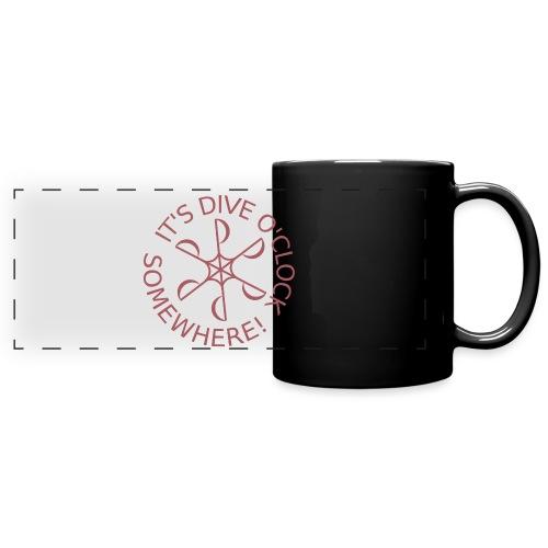Dive o clock Dark Pink - Full Color Panoramic Mug