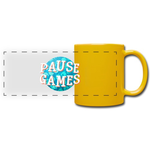 Pause Games New Version - Full Color Panoramic Mug