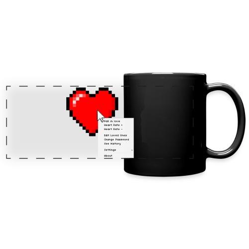 Options of the heart on a mug - Panoramakrus, farvet