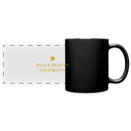 BLACK BEAUTY UNIVERSITY LOGO GOLD - Mug panoramique uni