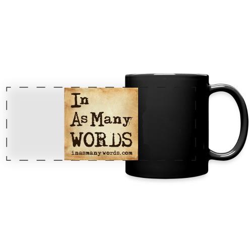 I AM Words LOGO_Brown - Full Colour Panoramic Mug