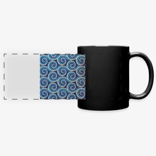 Spirales au motif bleu - Mug panoramique uni