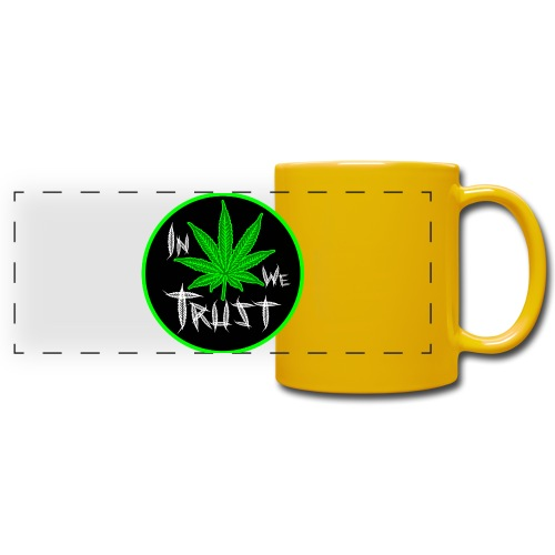 In weed we trust - Taza panorámica de colores