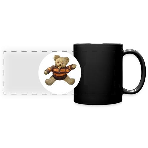 Teddybär - orange braun - Retro Vintage - Bär - Panoramatasse farbig