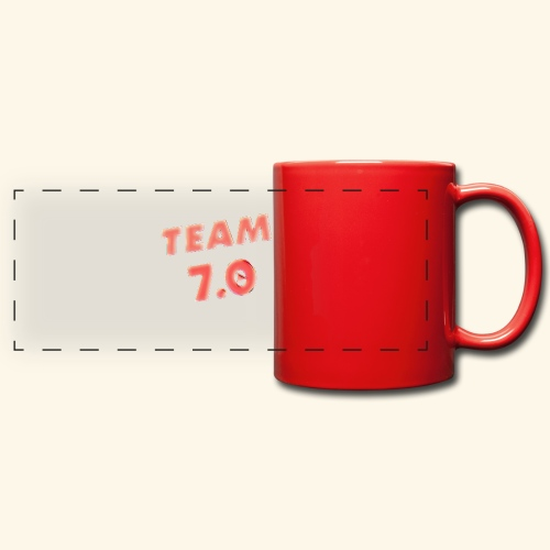 Pop art team 7 - Full Colour Panoramic Mug