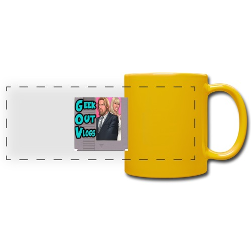 GeekOut Vlogs NES logo - Full Color Panoramic Mug