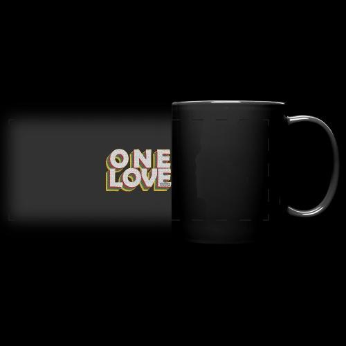 ONE LOVE - Panoramatasse farbig