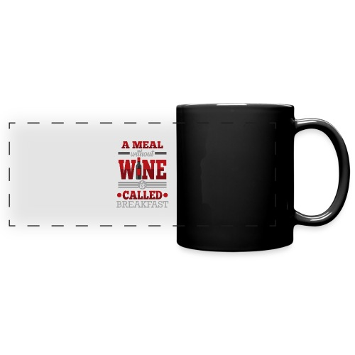 Food requires wine - Funny wine gift idea - Full Color Panoramic Mug