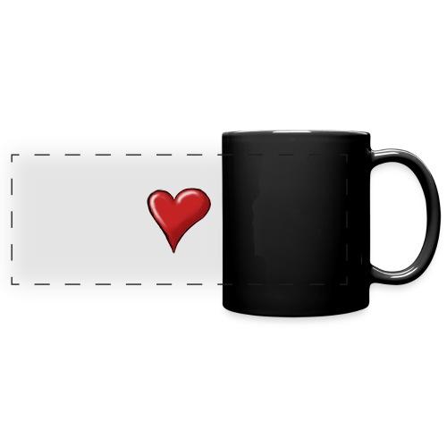 Love (coeur) - Mug panoramique uni