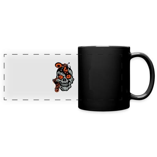 tete mort moto motrocycle oeil skull - Mug panoramique uni