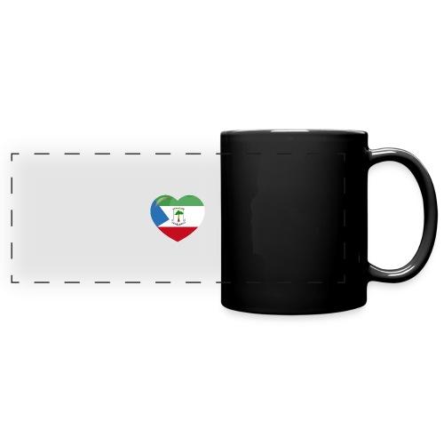 Mi corazón es de Guinea Ecuatorial - Taza panorámica de colores