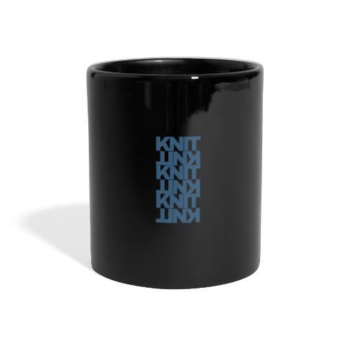 Garter Stitch, dark - Full Colour Panoramic Mug