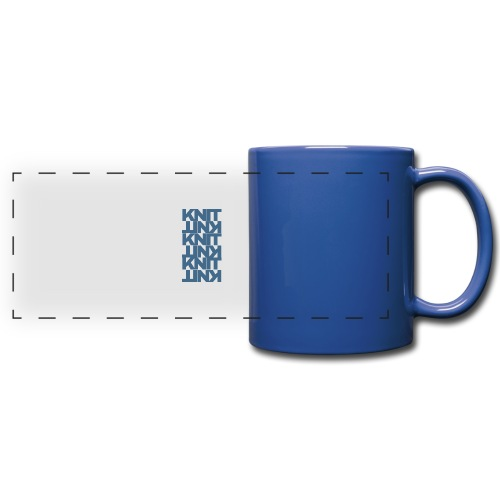 Garter Stitch, dark - Full Color Panoramic Mug