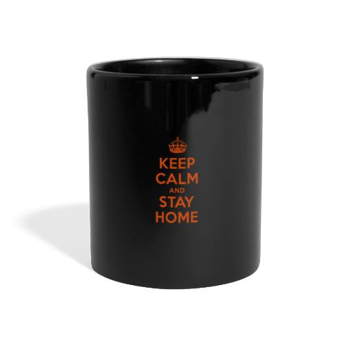 KEEP CALM and STAY HOME - Panoramatasse farbig