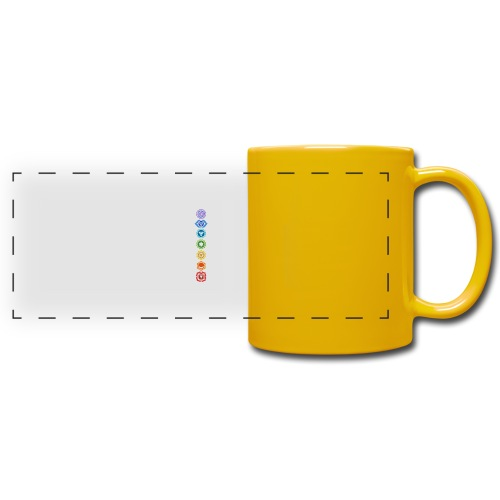 The 7 Chakras, Energy Centres Of The Body - Full Color Panoramic Mug