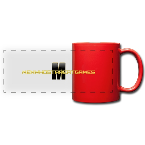 MENWHOSTAREATGAMES_LOGO t - Full Color Panoramic Mug