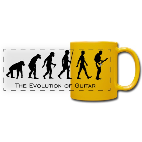 The Evolution Of Guitar - Taza panorámica de colores