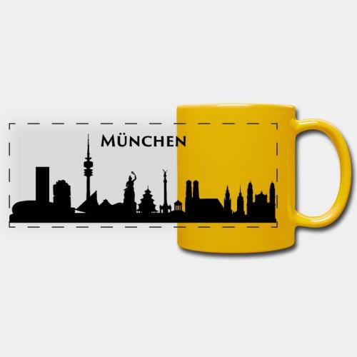 München Skyline - Panoramatasse farbig