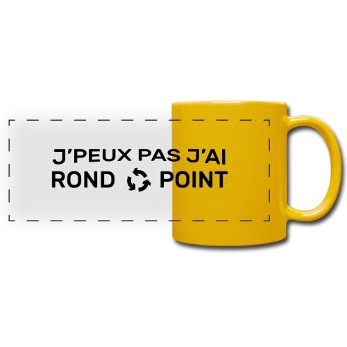 RondPoint noir 08 - Mug panoramique uni