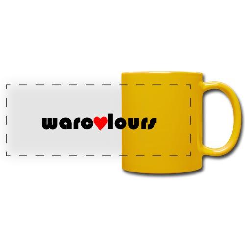 love warcolours black - Full Color Panoramic Mug
