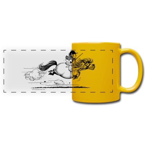 PonySprint Thelwell Cartoon - Full Colour Panoramic Mug